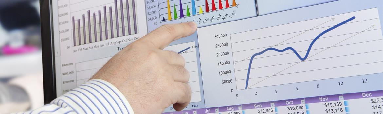 Charts auf dem Bildschirm auswerten